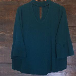 Moa Moa Greenish Blue blouse